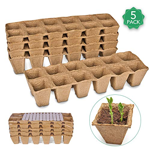 Seed Starter Peat Pots Kit for Garden Seedling Tray ANGTUO