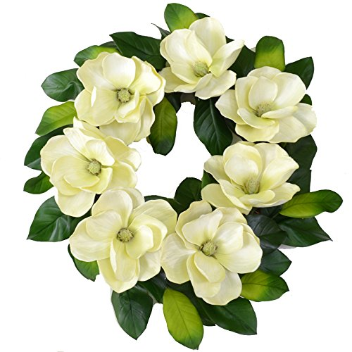 Magnolia Floral Wreath (Large Cream Magnolia Wreath)