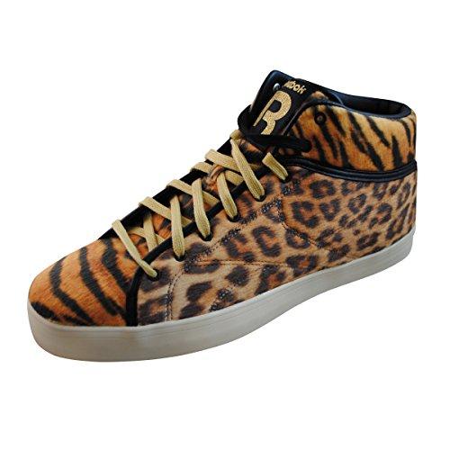 Reebok Mens Casual Moda Scarpe Da Ginnastica Taglia 7,5 M V54201 Sh Prime Corte Cheetah Giallo