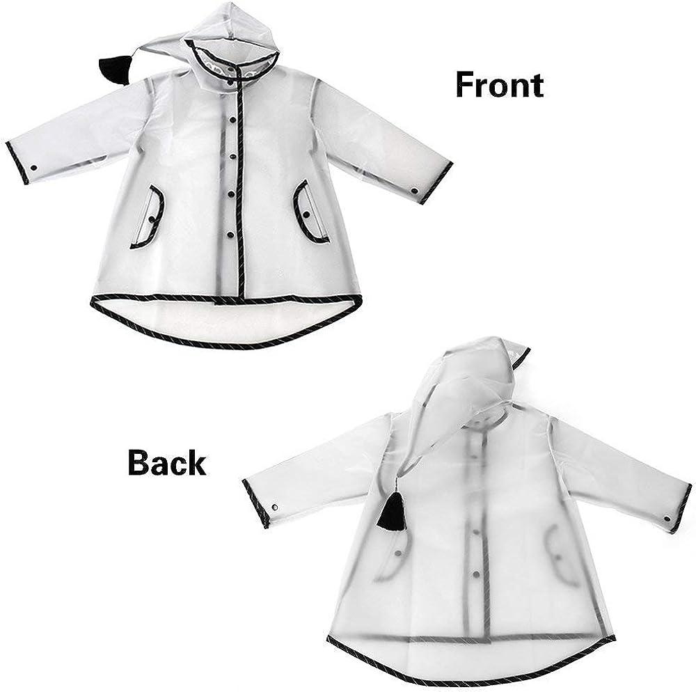 sunnymi Kids Boy Girl Raincoat Rain Jacket Dinosaur Lightweight Rainwear Rain Slicker Poncho Child 3D Storage Bag