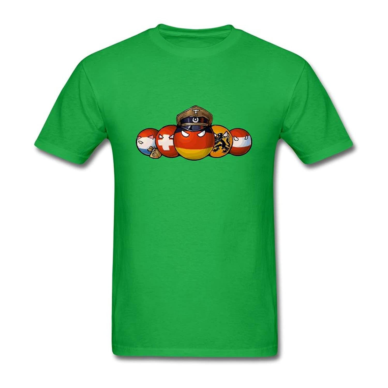 SLJD Men's Art Countryballs Comics Europe Design T Shirt