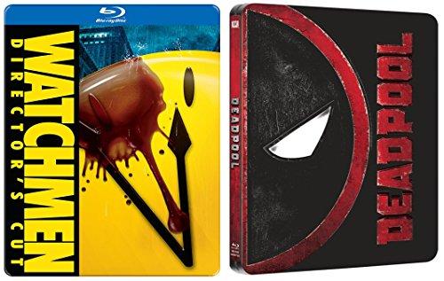 - Deadpool Steelbook Exclusive Blu Ray & The Watchmen Steelbook Movie Pack Hero Bundle