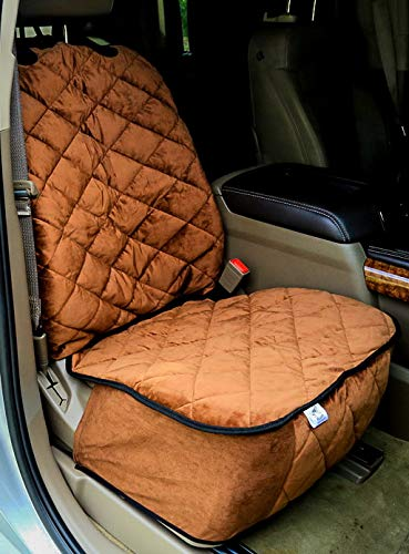 Plush Paws Ultra-Premium Velvet Bucket Front Seat Cover for Cars, Trucks & SUV's - Chocolate ()