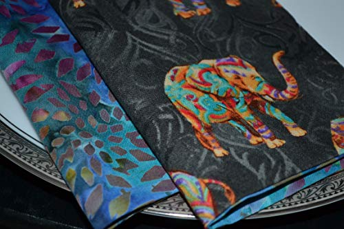 (Elephant Batiks Reversible Cloth Napkins/Set of 8)