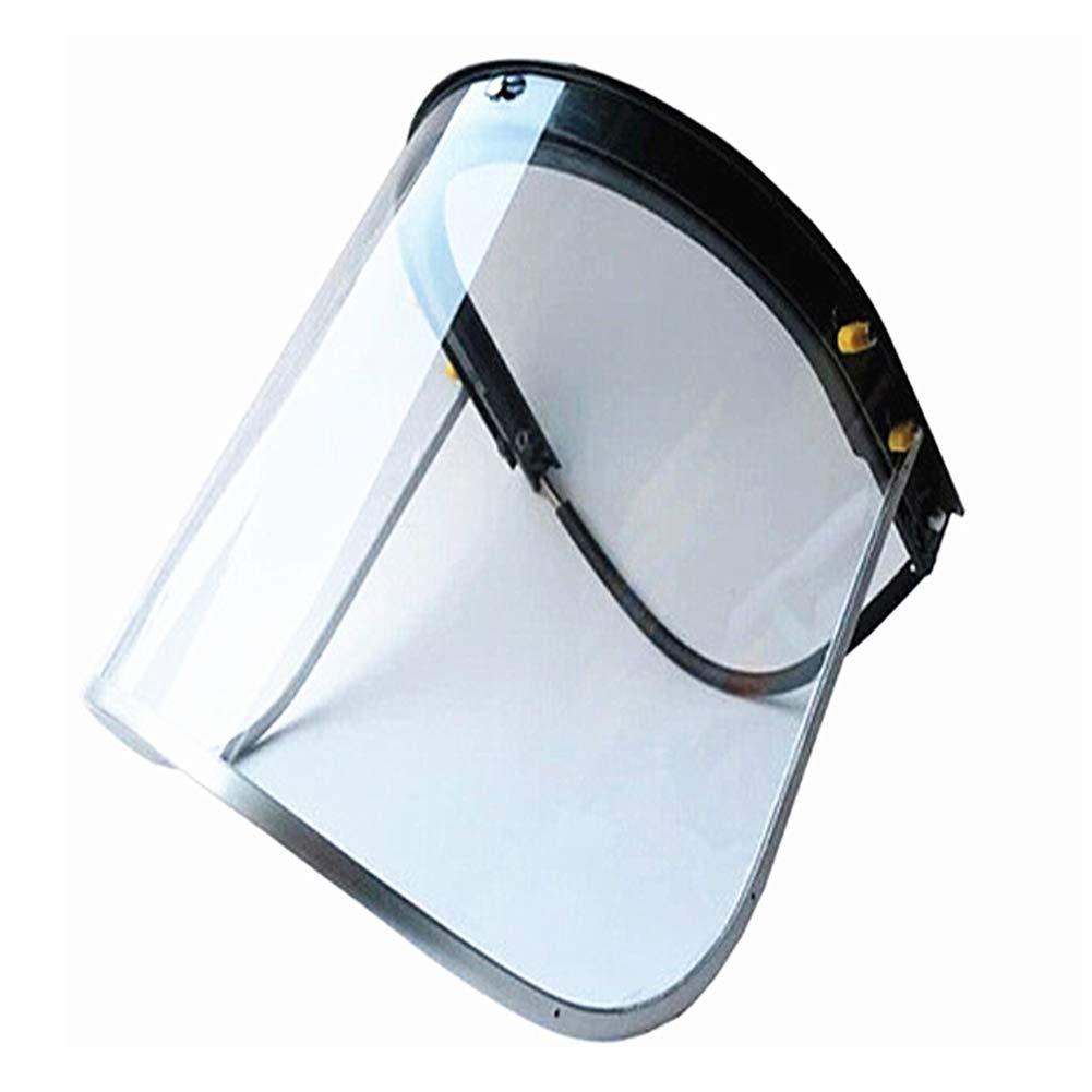armine88 Protecci/ón Facial Soldadura Ligera pa de Trabajo a Prueba de Sol Cocina Transparente Protecci/ón para los Ojos Seguridad M/áscara abatible Retardante de Llama con Pantalla de Marco