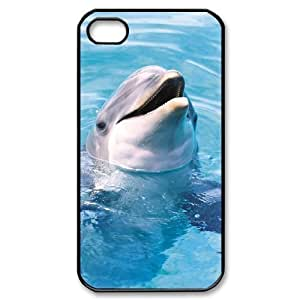 Dolphin Brand New Cover Case for Iphone 4,4S,diy case cover ygtg519554