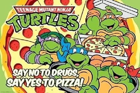 Amazon.com: Teenage Mutant Ninja Turtles – Póster (36 x 24 ...