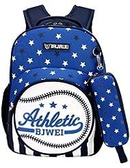 MATMO American Baseball Pattern Student Backpack School Bag Pencil Case