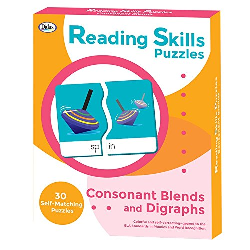 Didax Reading Skills Puzzles: Consonant Blends and Digraphs