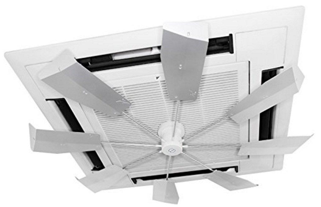 2013年節電対策 業務用エアコン風よけ&省エネ対策 ハイブリッドファン ファースト シルバー [HBF-FJK S/W] モデル B008GQ56TA
