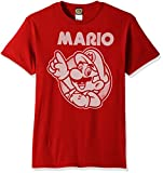 Nintendo Men's So Mario T-Shirt, Red, X-Large