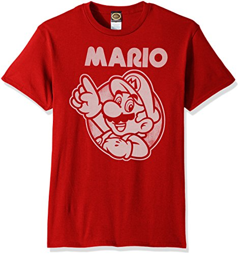Nintendo Men's So Mario T-Shirt, Red, Medium