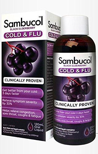 (Sambucol Cold & Flu Syrup 120ml product of Australia)