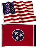 4×6 Embroidered American Flag & 4×6 Tennessee Flag Made in the U.S.A. Review