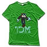Quality YouTuber Diamond DanTDM Short Sleeve O-Neck Tee Shirt XXX-Large KellyGreen