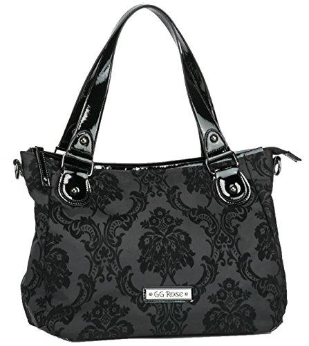 Rock-Rebel-Vixen-Day-Bag-Victorian-Damask-Black-on-Black-Shoulder-Bag-Purse