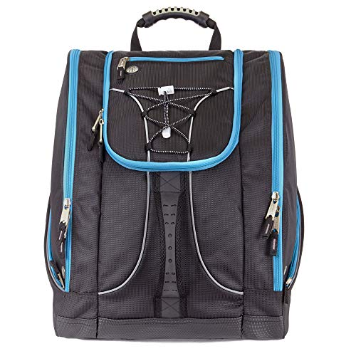 Athalon Everything Boot Bag Black with Teal Zip