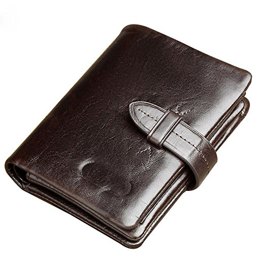 men's short Leather purse LIGYM men's for for short LIGYM Leather Enkephalin purse zipper zipper Uxpq1