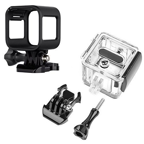 Makit Standard Frame Protective Case & 45M Waterproof Diving Housing Underwater Case for Gopro Hero 5/4 Session