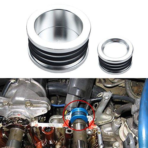 Dewhel B16 B18 B20 H22 H23 F20 Engine HONDA Acura B-SERIES H-SERIES BILLET Triple O ring CAM CAMSHAFT SEAL PLUG Color Silver (Billet Cam Plug)
