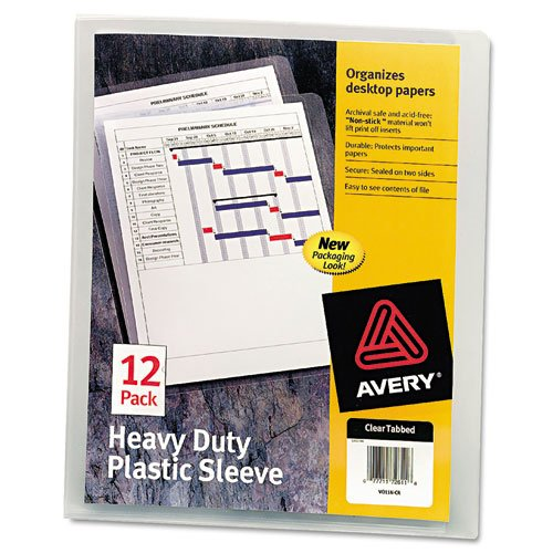 Heavy-Duty Plastic Sleeves, Letter, Polypropylene, Clear, 12/Pack, Sold as 12 Each ()
