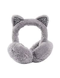 Cute Imitation Cat Ear Earmuffs Winter Outdoor Earwarmer Foldable Earmuffs, Gray