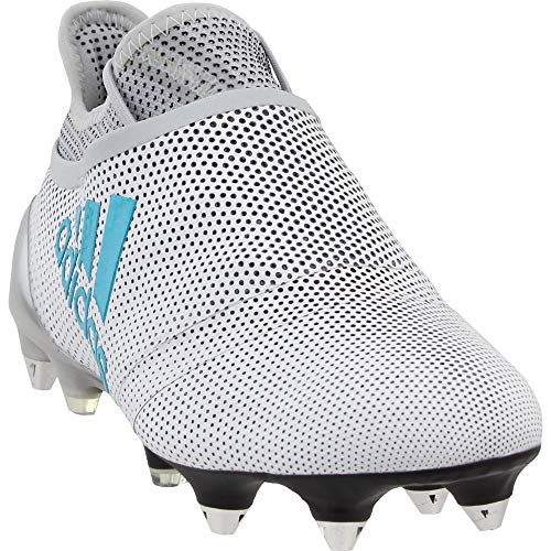 adidas Mens X 17+ Purespeed Soft Ground Soccer Athletic Cleats White 10.5