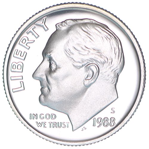 1988 S Proof Clad Roosevelt Dime PF1