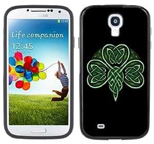 Celtic Shamrock Handmade Samsung Galaxy S4 Black Bumper Hard Plastic Case