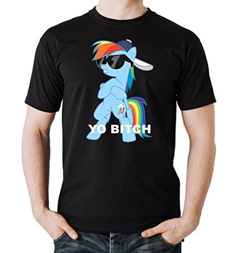 Yo Bitch Pony T-Shirt Black Certified Freak
