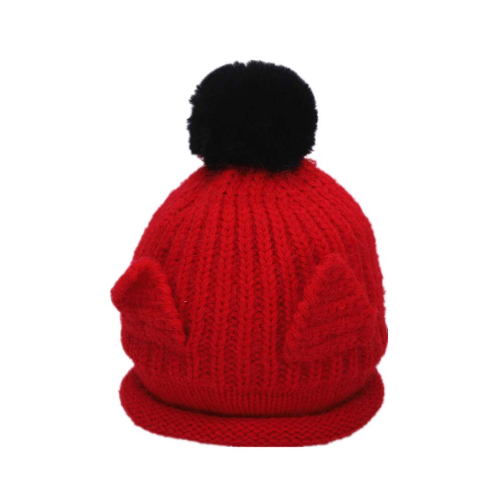 FCTREE Baby Warm Knitted Hat Toddler Winter Hat Boys Girls Bobble Hat Kids Beanie Cap