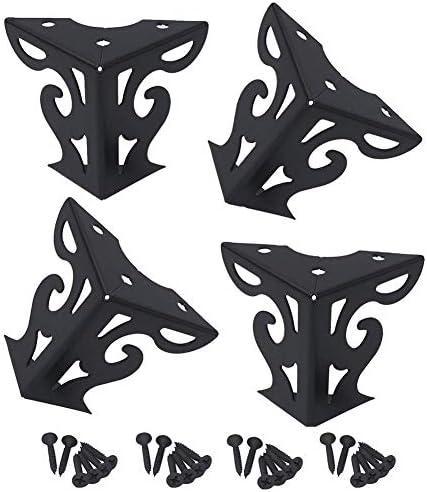 金属のコーヒーテーブルサポート足、黒いソファーキャビネットハードウェア家具の足8 cm、花の足