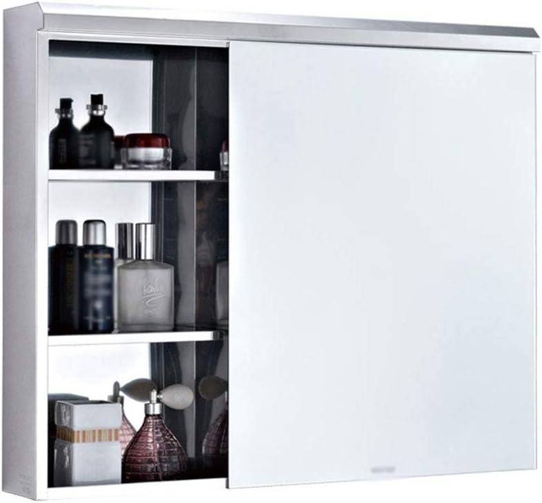 GXFC Mueble de baño de Espejo de Acero Inoxidable, Armario de Cocina en la Pared, Gabinete de Almacenamiento con Estante Ajustable, Organizador de Accesorios de Fregadero: Amazon.es: Hogar