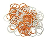 (100 Pack) Soft Stitch Ring Markers (Large size for needle sizes 17-35, Includes 2 colors, for knitting/crochet/etc)