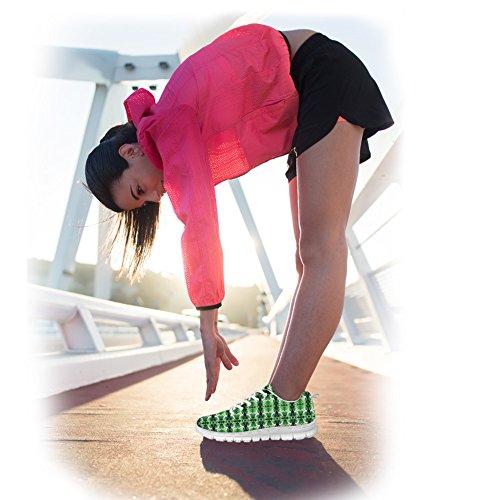 Bigcardesigns Donna Moda Scarpe Da Corsa Sneakers Stringate Verde