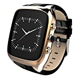 Waterproof Smart Watch Android 5.1 Mobile Phone MTK6580 with GPS - Golden