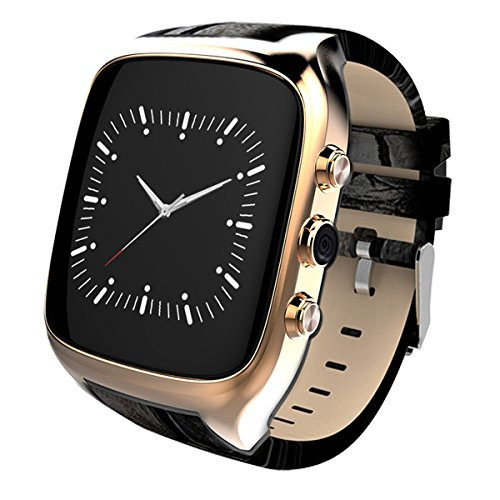 Waterproof Smart Watch Android 5.1 Mobile Phone MTK6580 with GPS - Golden by OLSUS