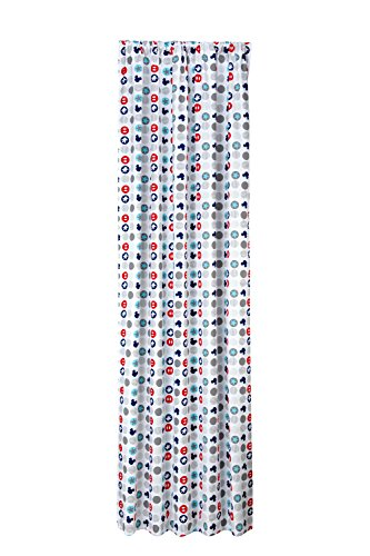 Infant Curtain - Disney Baby Mickey Mouse Best Buddies Window Curtain, Multi