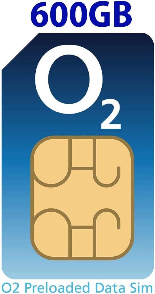 Tarjeta SIM O2 4G precargada con 600 GB de datos 4G Super-Fast, válida para 30 días desde el primer uso: Amazon.es: Electrónica