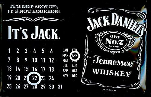 JACK DANIEL'S CALENDAR Embossed 3D Vintage Metal Pub for sale  Delivered anywhere in USA
