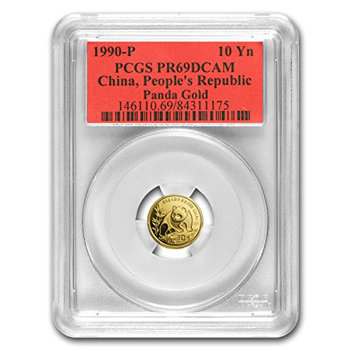 1990 CN China 1/10 oz Proof Gold Panda PR-69 PCGS Gold PR-69 PCGS