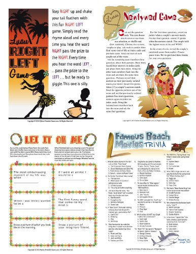 (Printable Luau Party Games Pack)