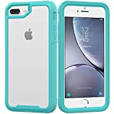 iPhone 8 Plus Case,iPhone 7 Plus Case,iPhone 6 Plus/6s Plus Case,UZER Shockproof Transparent PC Frame Crystal Durable Flexible Soft Rubber TPU Bumper Case for iPhone 8 Plus/7 Plus/6S Plus/6 Plus 5.5'