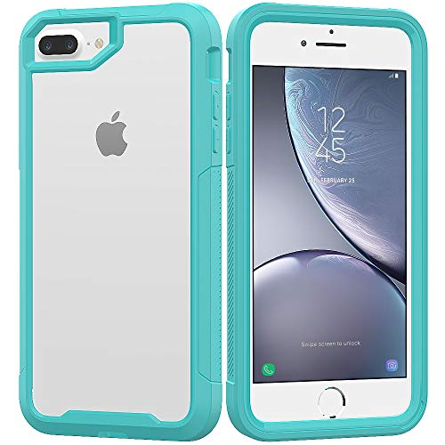 iPhone 8 Plus Case,iPhone 7 Plus Case,iPhone 6 Plus/6s Plus Case,UZER Shockproof Transparent PC Frame Crystal Durable Flexible Soft Rubber TPU Bumper Case for iPhone 8 Plus/7 Plus/6S Plus/6 Plus 5.5