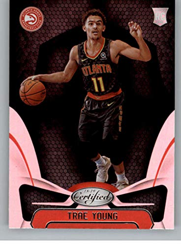 - 2018-19 Certified Mirror Basketball #155 Trae Young Atlanta Hawks Official NBA Trading Card From Panini America