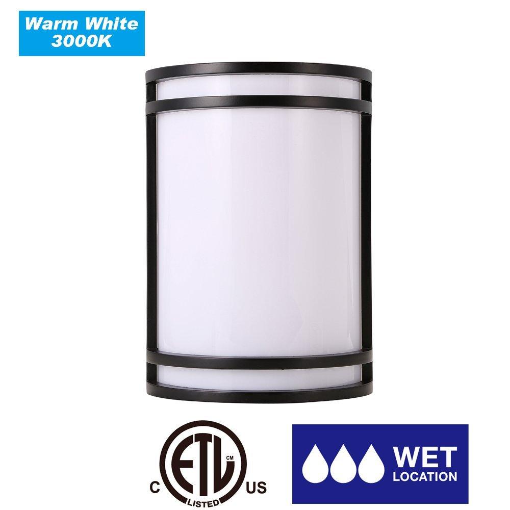 Cloudy Bay lcows715830orb LEDアウトドア壁取り付け用燭台3000 Kウォームホワイト15 W-120 W白熱相当、ETL認定LEDアウトドア壁器具、ORBボディwithアクリルレンズ B01H1R77GE