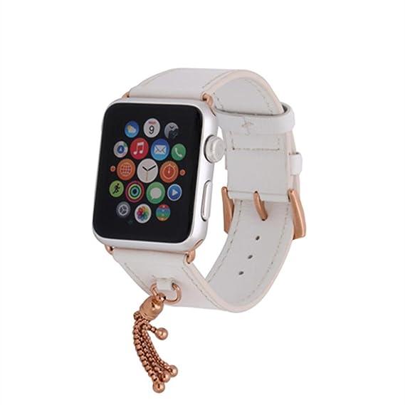 Correa de reloj de cuero, ankola caliente vender para Apple Watch Series 1/2 colgante banda liberación rápida de la pulsera: Amazon.es: Relojes