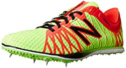New Balance Men's MLD5000 Long Distance Spike Running Shoe,Green/Red,12 D US