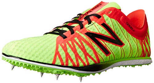 New Balance Mens MLD5000 Long Distance Spike Running Shoe Green/Red