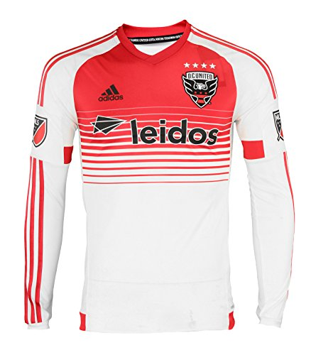 Long Sleeve Replica Jersey - MLS Soccer Men's Adidas Long Sleeve Authentic Jersey, D.C. United